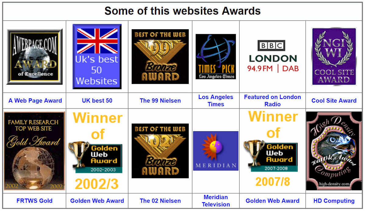 The Lambert Family website awards